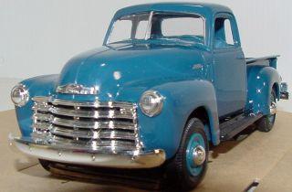 Ertl Promo Model 1950 Chevrolet 5 Window Pick Up in Mariner Blue MIB
