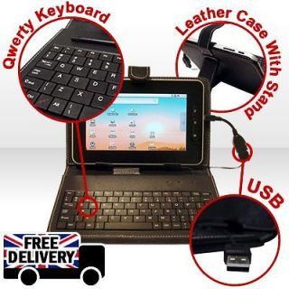 HIGH QUALITY PU CASE COVER WITH KEYBOARD FOR ANDROID 7 TABLET PC EPAD
