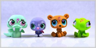 Lot 4 Littlest Pet Shop RARE Girl Child Collection Figure Toy Loose