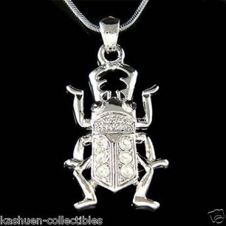 Swarovski Crystal Egyptian Scarab Stag Beetle Unisex Insect Bug