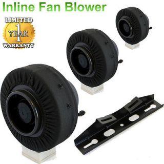 Inch Inline Fan Exhaust Blower Ventilation Duct Fan Odor Control CFM