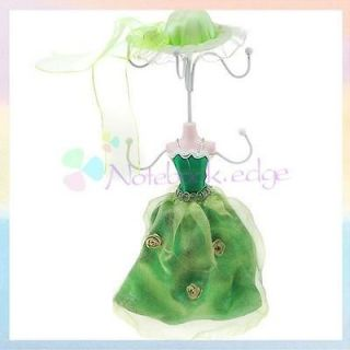 Bride Earring Key Ring Jewelry Display Stand Holder Showcase Green