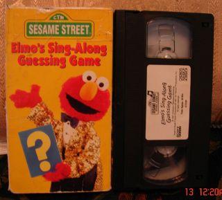 SESAME STREET ELMOS SING ALONG GUESSING GAME VHS TRUSTED SELLER~I