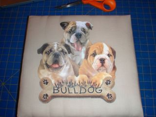 BULLDOG BULL DOG ENG FRENCH FABRIC SCRAPBOOK 12X12