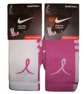 breast cancer awareness nike elite socks in Clothing, Shoes