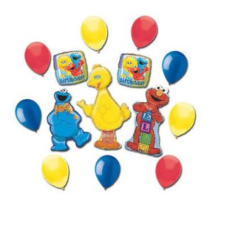 COOKIE MONSTER Birthday Balloons Decorations Supplies Party Sesame