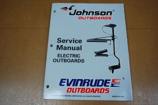 Johnson Evinrude Outboard 1997 Service Manual Electric Trolling Motor
