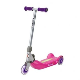 Junior Folding Kiddie Kick Scooter   Pink Exercise Three Wheel Design