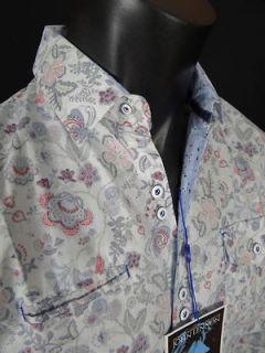 NEW JOHN LENNON English Laundry Shirt WATCHING THE WHEELS BLUE Floral
