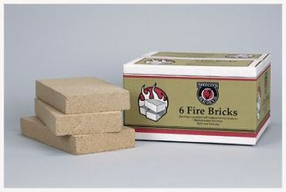 INC Replacement fire brick 6 Qty Wood Burning Stove Furnaces Fireplace