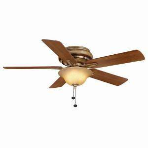 Hampton Bay Bay Island 52 in. Desert Patina Ceiling Fan