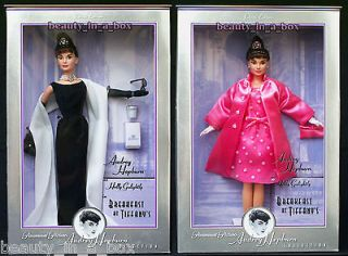 Audrey Hepburn Breakfast at Tiffanys Givenchy Black Gown Pink Barbie