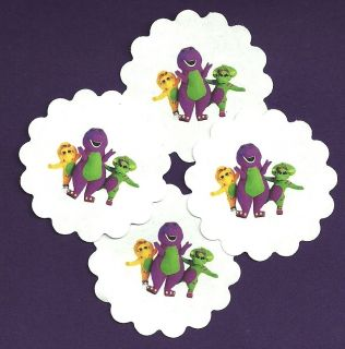 Barney and Friends Themed   Envelope Seal Stickers  Birthday Party