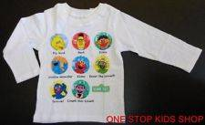 Toddler Boys 2T 3T 4T Tee SHIRT Top Bert Ernie Elmo Big Bird Oscar