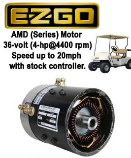 EZGO 36 volt SERIES Golf Cart High Speed Motor (20mph with stock