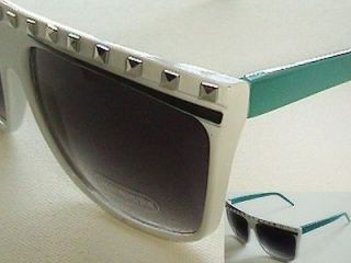Fun White Face Party Rock Lmfao Dance Style Sun Glasses with Metal