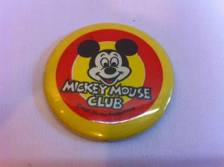 VINTAGE DISNEY MICKEY MOUSE CLUB BUTTON / MIRROR