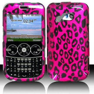 Pink Leopard Faceplate Hard Shell Cover Phone Case Protector for LG
