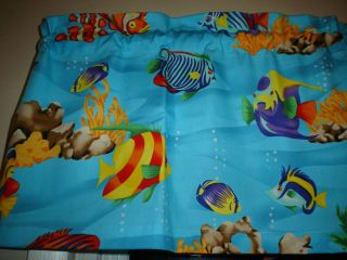 Bright Tropical Fish Ocean Sea Blue Water Bathroom Kitchen Window