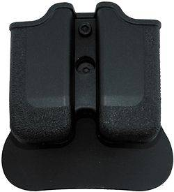 BLACK POLYMER DOUBLE MAGAZINE POUCH PADDLE STYLE TAURUS 24/7 .40 S&W