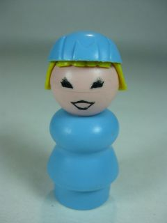 Vintage Fisher Price Little People Tall Stewardess No Collar Airport