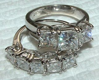 carat WHITE GOLD DIAMOND RING wedding band SET new