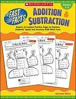 FAST FACTS ADDITION & SUBTRACTION Math Gr 1, 2 NEW
