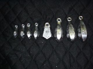 bank sinkers lot 10  16 oz   lead fishing weights   made from a do it