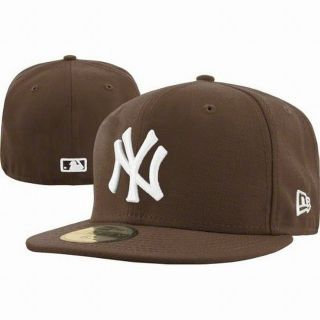 New Era 5950 New York Yankees   NY   WHITE on BROWN   MLB Baseball Cap
