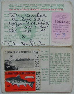 1940 new hampshire 3day non resident fishing license for Where to buy california fishing license