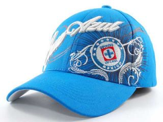 FIFA WORLD CUP SWEEPER FLEX FIT MLS SOCCER HAT  MEXICO CRUZ AZUL   SM