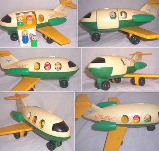Vintage Fisher Price Little People Play Family Jetliner Airplane #182