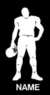 Football Player with Name Vinyl Sports Decal 8161