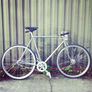 T2D Vintage /Retro Classic Chrome Carlton Fixed Gear Bike Fixie
