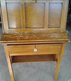 Country Antique vintage pine Secretary desk Office home