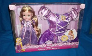 DISNEY PRINCESS TANGLED RAPUNZEL MY FIRST DOLL WITH TODDLER DRESS NEW
