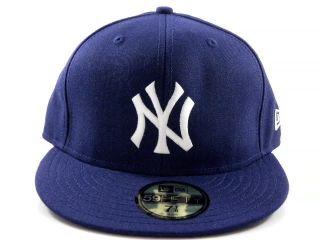 New Era New York Yankees Vintage Retro Navy Blue Fitted Baseball Hat