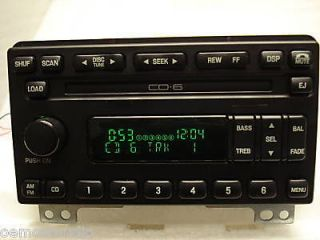 2006 Ford Expedition Radio 6 Disc Changer CD Player Stereo OEM 04 05