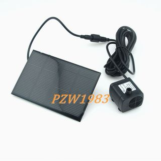 6V 1.2W Solar Energy Water Pump With Panel For Fountain Pond With