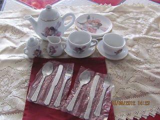 Newly listed 19 PIECE FLOWER FAIRIES TEA SET, REUTTER PORZELLAN