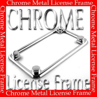 MOTORCYCLE LICENSE PLATE FRAME NEW 1 PC + 4 SCREW CAPS