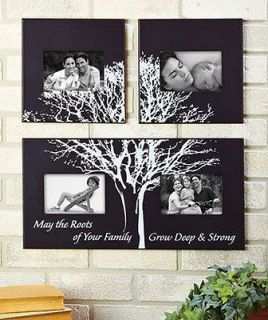 NEW 3 PC FAMILY TREE PHOTO PICTURE FRAME ART WALL HANGING COLLAGE