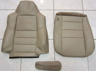 05 Ford Excursion LIMITED Complete Driver Side LEATHER Seat Covers TAN