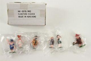 Plastic Miniature Cartoon Toys FLINTSTONES TINYKINS 1960s Complete
