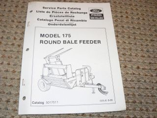 Ford New Holland Model 175 Round Bale Feeder Dealers Parts Book