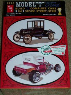 AMT 1925 Ford Model T 3 in 1 Model Car Kit 1/25