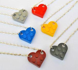 LEGO® LOVE HEART NECKLACE 18 INCH GIRLFRIEND BEST FRIEND XMAS