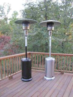 STEEL or HAMMERED BRONZE Propane Outdoor Commercial Patio Heater