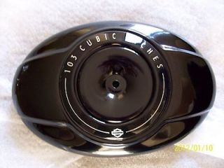 Harley ROAD KING 103 AIR CLEANER COVER GLOSS BLACK POWDER COAT 2012