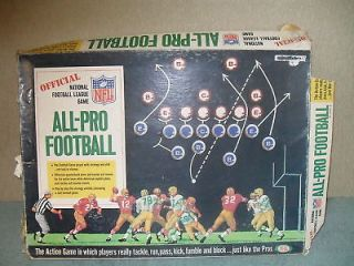 Official NFL All Pro Football Board Game 1967
